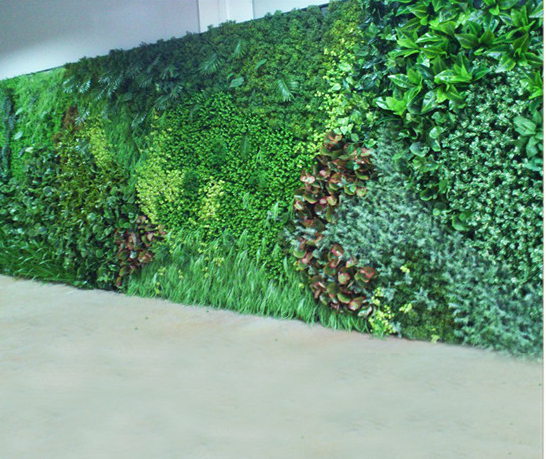 仿真植物制作的草墙