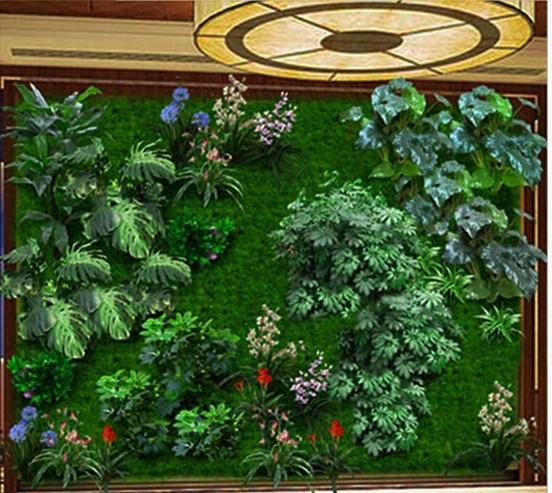 客厅仿真植物墙
